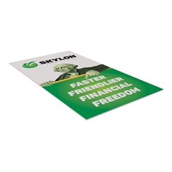 "24"" x 42"" Base-X Single-Sided Sign Graphic Only. This signpost's space-saving base folds out to an X shape for a sleek look that draws attention to the signboard."