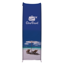 2ft x 7ft EuroFit Cascade Kit. These double-sided displays weigh 75% less than standard pop-up displays.