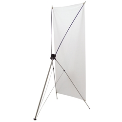 24in x 60in Tripod Banner Display allows your customers to quickly set up their graphics. Banner displays provide a heavy duty, economical solution for your graphic display needs. Display your banner with our attractive, lightweight banner stands
