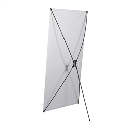 31.5in x 79in Tri-X4 Banner Display Kit with Banner allows your customers to quickly set up their graphics. Budget Spring-Back Banner Stand allows for an upscale wood look for a lower cost.  Simply unfold the Tri-X display and attach a grommeted graphic..