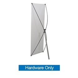 23.5in x 70in Euro-X2 Banner Display Hardware Only allows your customers to quickly set up their graphics. Simply unfold the Euro-X Banner Display Hardware and attach a grommeted graphic. Allows for an upscale wood look for a lower cost.