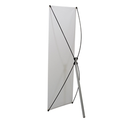 23.5in x 70in Euro-X2 Banner Display Kit with Banner allows your customers to quickly set up their graphics. Simply unfold the Euro-X Banner Display Hardware and attach a grommeted graphic. Allows for an upscale wood look for a lower cost.