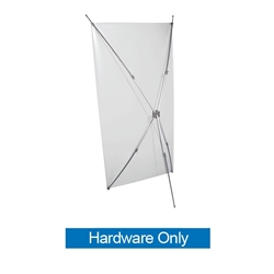 The X-Ceptional Trade Show Banner Stand Display is easy to set up with the added feature of four telescoping arms. The display can accommodate banners from 45in high x 20in wide up to 72 high x 35 wide. The telescoping arms collapse for compact storage