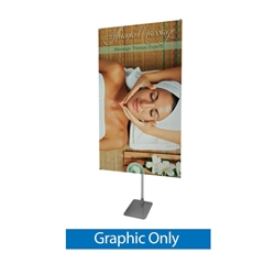 40in x 75in Centerpoint Banner Stand Kit offers a unique new display solution. Banner attaches like a typical X display but the center hub allows the banner to rotate 360 degrees or tilt up or down. Adjustable banner stand is a great exhibition display.