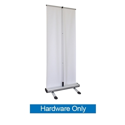 Four Season Trek Lite Retractor Hardware Only Outdoor Banner Stand. Outdoor advertising solution that is durable and easy set-up. This heavy duty display includes detachable feet that when locked into base provides a strong and stable footprint