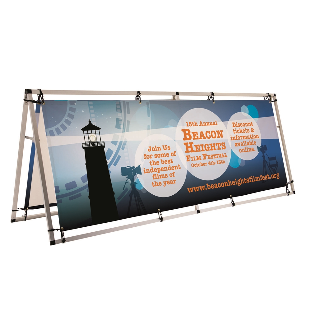 Outdoor Horizontal 8 Ft A Frame Large Banner Display