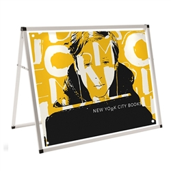 4ft Horizontal A-Frame Display Kit with 2 Banners - Small Banner Display as a versatile way to display messages at sporting or other events when they need to stand out in a crowd. Dramatically increase the impact and visibility of your marketing