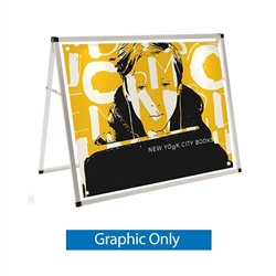 4ft Horizontal A-Frame Display Replacement Banner - Small Banner Display as a versatile way to display messages at sporting or other events when they need to stand out in a crowd. Dramatically increase the impact and visibility of your marketing