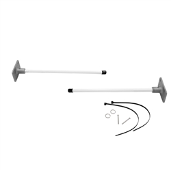 A Vertical Wall Mount Bracket is used to install banners on walls and other flat surfaces. This bracket uses many of the components of our Boulevard Bracket System to secure the fiberglass poles to the base. A Vertical Wall Mount Bracket can easily instal