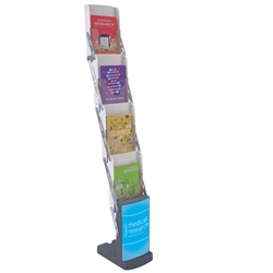 1ft x 5ft Direct View Literature Display. Keep your pamphlets and brochures prominently displayed and organized.