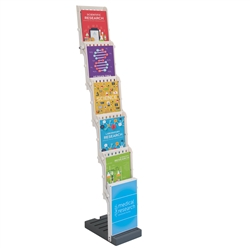 1ft x 5ft Easy View Literature Display. Keep your pamphlets and brochures prominently displayed and organized.