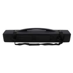40in x 5in x 6in Black Plastic Carrying Molded Plastic Case carrying case for use with banner stands displays, back walls, and trade show accessories and Economy Retractors and Banner Displays. Heavy duty Black Plastic Carrying Molded Plastic Case