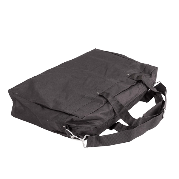 22 in (W) x 5 in (H) x 14 in (L) Soft Carry Case. xyzDisplays offer soft carrying cases for your portable canopy tents, trade show graphics, banner stands, hanging banners and signs, or other exhibit displays,