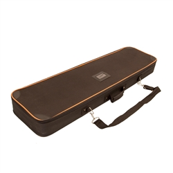 40.25 in (W) x 3.5 in (H) x 11.75 in (L) Woodgrain Change Agent Soft Case with Orange Trim. xyzDisplays offer soft carrying cases for your portable canopy tents, trade show graphics, banner stands, hanging banners and signs, or other exhibit displays