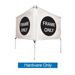 Get your outdoor message noticed! For maximum impact and visibility, In-Ground V-Shape Banner Frame Hardware Only 5ft h x 8ft w are an excellent way to display banners. All pieces of the lightweight all-steel frame snap together for easy assembly.
