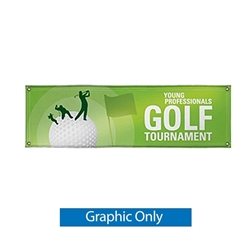 3ft x10ft Replacement Banner Full Color, Hems and Grommets Included for 10ft (W) x 5ft (H) In-Ground V-Shape Banner Frame are extremely durable and ideal for long-term, outdoor use. Use Banner for indoor events, but most ideal for outdoor long-term use.