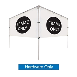 Get your outdoor message noticed! For maximum impact and visibility, In-Ground V-Shape Banner Frame Hardware Only 5ft h x 10ft w are an excellent way to display banners. All pieces of the lightweight all-steel frame snap together for easy assembly.