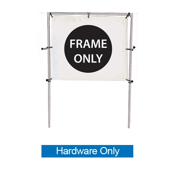 8ft (W) x 5ft (H) In-Ground Single Banner Frame Hardware Only