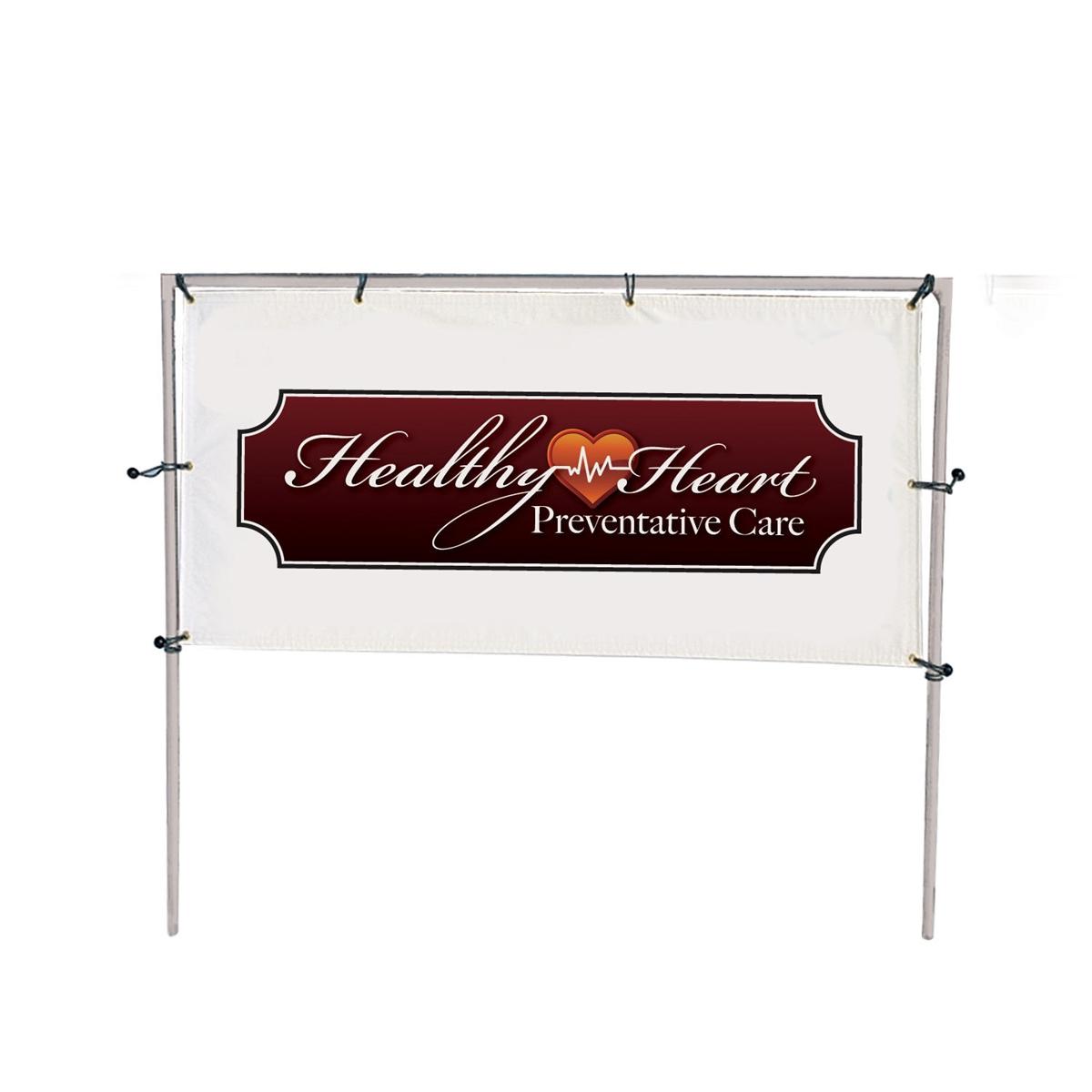 10ft (W) x 5ft (H) In-Ground Single Banner Frame Kit
