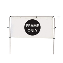 Get your outdoor message noticed! For maximum impact and visibility, In-Ground Single Banner Frame Hardware Only 5ft h x 10ft w are an excellent way to display banners. All pieces of the lightweight all-steel frame snap together for easy assembly.