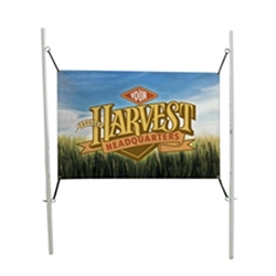 6ft x 4ft In-Ground Banner Post Kit a quick and easy solution for installing in-ground banners. The fiberglass-composit posts are 75 percent lighter and 5 times stronger than steel. Just drive the posts into the ground.
