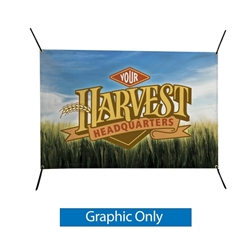 6W x 4H In-Ground Banner Post Replacement Banner. A quick and easy solution for installing in-ground banners. The fiberglass-composit posts are 75 percent lighter and 5 times stronger than steel. Just drive the posts into the ground.
