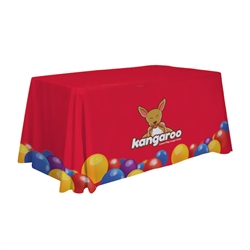 6ft Stylish and elegant, Creative Banners table throws professionally present your company image at events and trade shows. This popular table throw offers a simple way to get your message noticed.