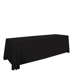 8ft Stylish and elegant, Creative Banners Standard Table Throw Unimprinted professionally present your company image at events and trade shows. These premium quality polyester twill table throws are easy to care for and can be easily washed.