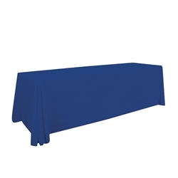 8ft Stylish and elegant, Creative Banners Stain Resistant Standard Throw Unimprinted professionally present your company image at events and trade shows. These premium quality polyester twill table throws are easy to care for and can be easily washe