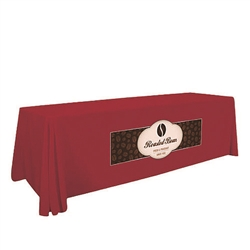 8ft Stylish and elegant, Creative Banners Stain Resistant Standard Throw Full Color Print professionally present your company image at events and trade shows. These premium quality polyester twill table throws are easy to care for and can be easily washed