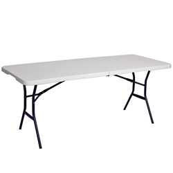 Showgoer 6 ft Folding Demo Table is non-printed as a trade show accessory. Our Foldable Counter Height Tables for your next trade show event today. Showgoer 6 Ft Demo Tables are event accessories  to promote your next trade show event.