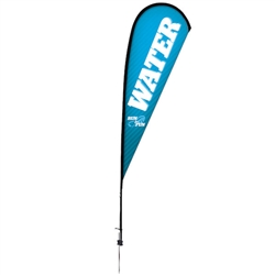 Outdoor promotional sail flags get your message noticed!  Custom printed 11.5ft Premium Teardrop marketing flags are perfect for events, trade shows, expos, fairs and in front of retail locations.