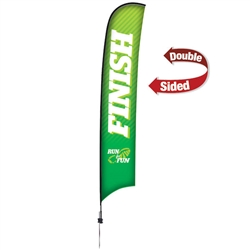 Outdoor promotional sail flags get your message noticed!  Custom printed 17ft Premium Razor marketing flags are perfect for events, trade shows, expos, fairs and in front of retail locations.