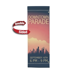 30in x 84in Double-Sided Vinyl Boulevard Banner. 