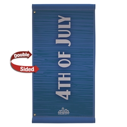 24in x 48in Double-Sided Fabric Boulevard Banner. 