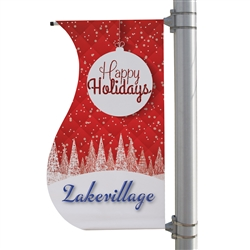 24in x 48in S-Shaped Boulevard Banner. 