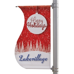 30in x 60in S-Shaped Boulevard Banner. 