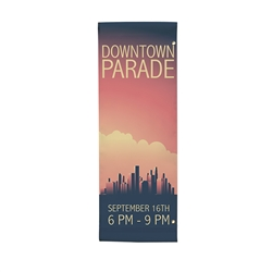 30in x 84in Single-Sided Vinyl Boulevard Banner. 
