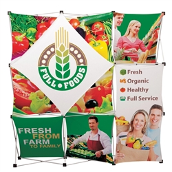 8ft Geometrix Fabric Trade Show Exhibit Kit are very similar to the Xpressions brand displays but are available at a much lower price point. Order GeoMetrix. Geometrix. Save up to 50% over the Xpressions Snap Pop-Up line of trade show fabric displays