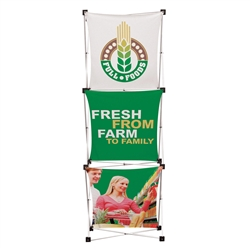 Geometrix 3ft x 8ft Fabric Trade Show Display Kit is one of the more unique product offerings at xyzDisplays. The Xpressions series offers many of the features the exhibitors look for in a high quality trade show pop up backwall fabric floor displays
