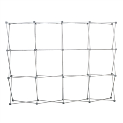 10ft Deluxe Geometrix 12 qd Display Frame Kit (Frame & Faceplates) . Deluxe Geometrix 12 qd Display stronger, and more durable frame then our standard GeoMetrix Trade Show Backwall Exhibits.