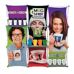 8ft Deluxe Geometrix Fabric Trade Show Exhibit Kit with 4 Banners is one of the more unique product offerings at xyzDisplays. Xpressions series offers many of the features the exhibitors look for in a high quality trade show backwall popup fabric displays