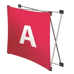 Replacement GeoMetrix Graphic Banner A for Tension Fabric Pop Up Deluxe Geometrix Displays and Geometrix Displays. Geometrix series same as Xpressions offers many of the features the exhibitors look for in a high quality display
