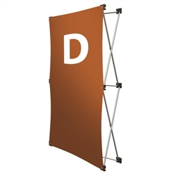Replacement GeoMetrix Graphic Banner D for Tension Fabric Pop Up Deluxe Geometrix Displays and Geometrix Displays. Geometrix series same as Xpressions offers many of the features the exhibitors look for in a high quality display