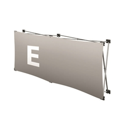 Replacement GeoMetrix Graphic Banner E for Tension Fabric Pop Up Deluxe Geometrix Displays and Geometrix Displays. Geometrix series same as Xpressions offers many of the features the exhibitors look for in a high quality display