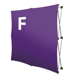 Replacement GeoMetrix Graphic Banner F for Tension Fabric Pop Up Deluxe Geometrix Displays and Geometrix Displays. Geometrix series same as Xpressions offers many of the features the exhibitors look for in a high quality display