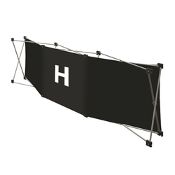 Replacement GeoMetrix Graphic Banner H for Tension Fabric Pop Up Deluxe Geometrix Displays and Geometrix Displays. Geometrix series same as Xpressions offers many of the features the exhibitors look for in a high quality display