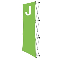 Replacement GeoMetrix Graphic Banner J for Tension Fabric Pop Up Deluxe Geometrix Displays and Geometrix Displays. Geometrix series same as Xpressions offers many of the features the exhibitors look for in a high quality display