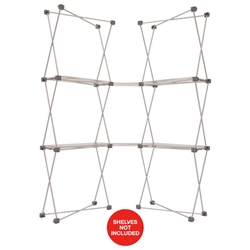 4ft x 7ft Deluxe GeoMetrix Connector Display Hardware Only. Our popular Deluxe GeoMetrix display now comes in several new configurations, featuring multiple units linked together with our brand new connector shelves.