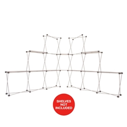 9ft x 7ft Deluxe GeoMetrix Connector Display Hardware Only. Our popular Deluxe GeoMetrix display now comes in several new configurations, featuring multiple units linked together with our brand new connector shelves.